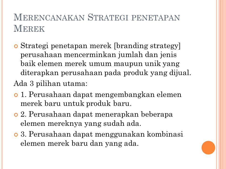 Merencanakan Strategi penetapan Merek