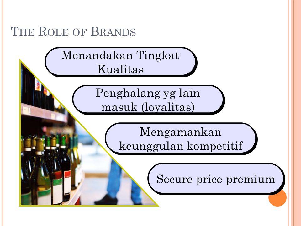 The Role of Brands Menandakan Tingkat Kualitas