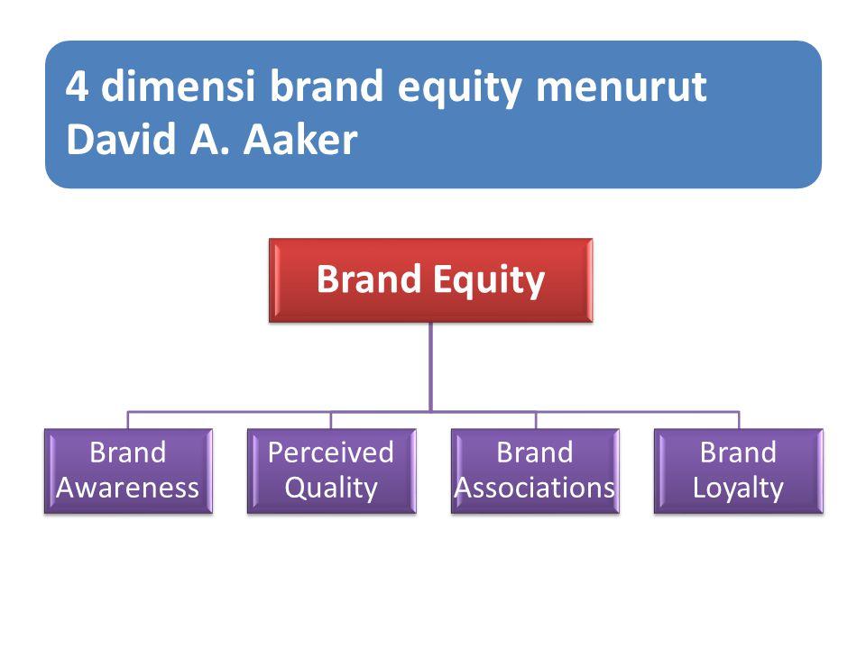 4 dimensi brand equity menurut David A. Aaker