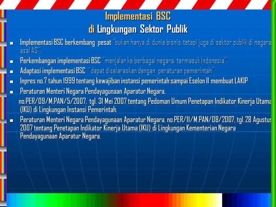 Implementasi BSC di Lingkungan Sektor Publik