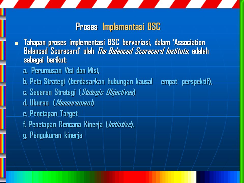 Proses Implementasi BSC