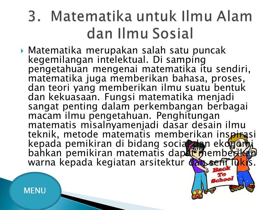 3. Matematika untuk Ilmu Alam dan Ilmu Sosial