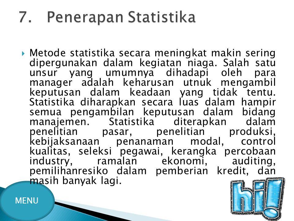 7. Penerapan Statistika