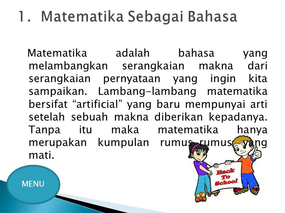 1. Matematika Sebagai Bahasa