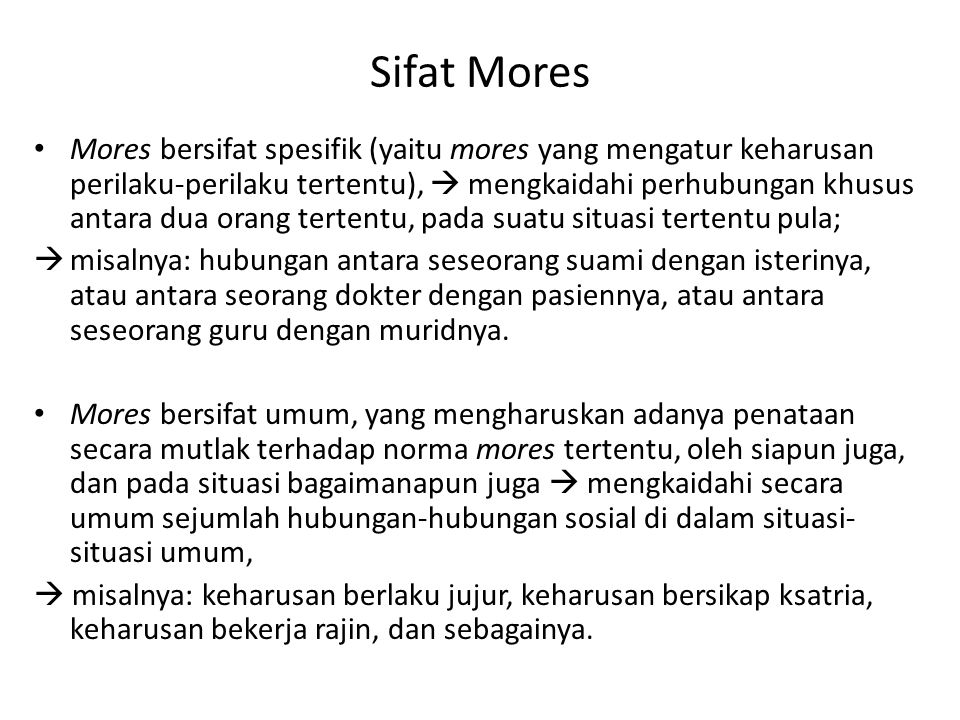 Sifat Mores