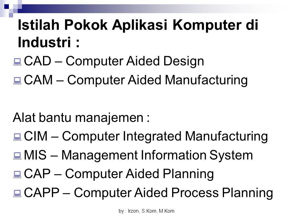 Istilah Pokok Aplikasi Komputer di Industri :