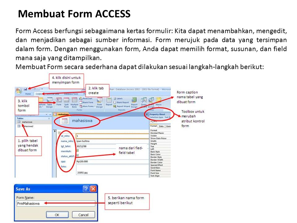 Membuat Form ACCESS