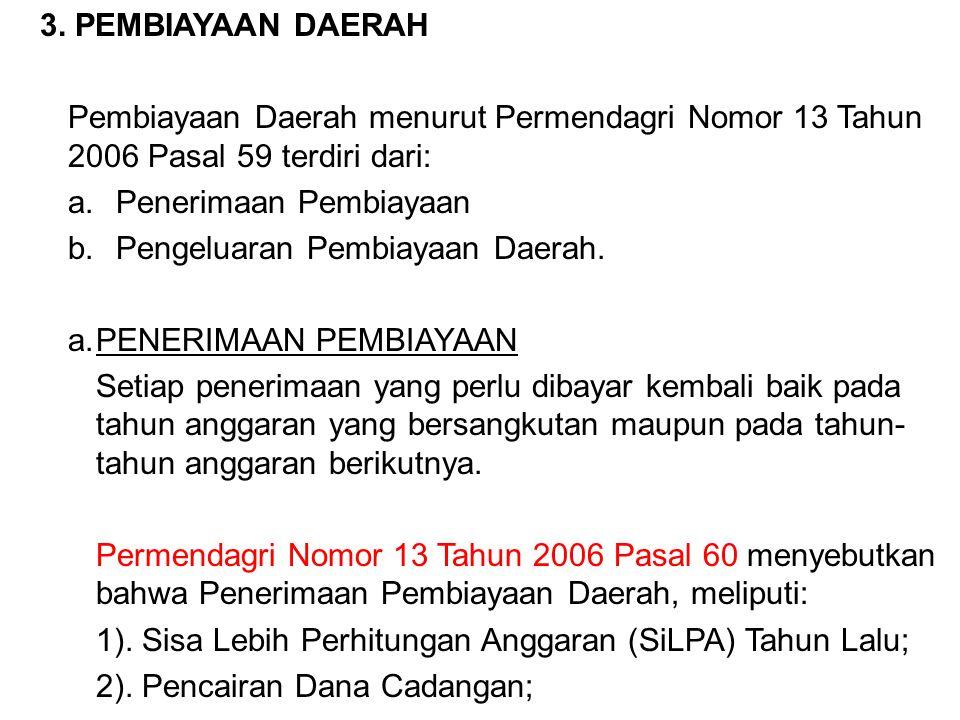 Penerimaan Pembiayaan Pengeluaran Pembiayaan Daerah.
