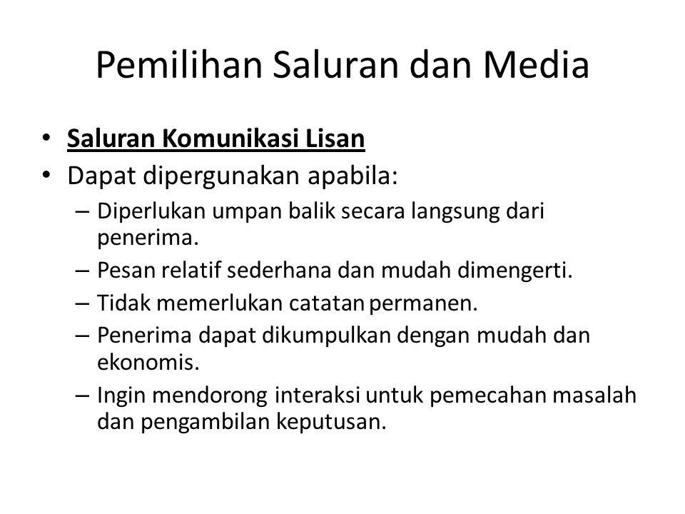 Pemilihan Saluran dan Media