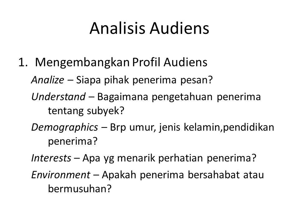 Analisis Audiens Mengembangkan Profil Audiens