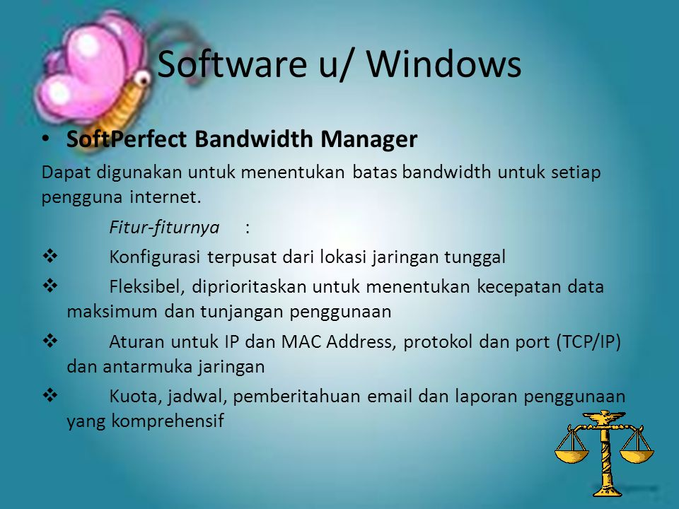 Software u/ Windows SoftPerfect Bandwidth Manager