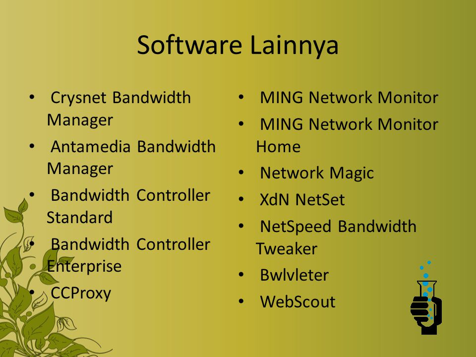 Software Lainnya Crysnet Bandwidth Manager MING Network Monitor