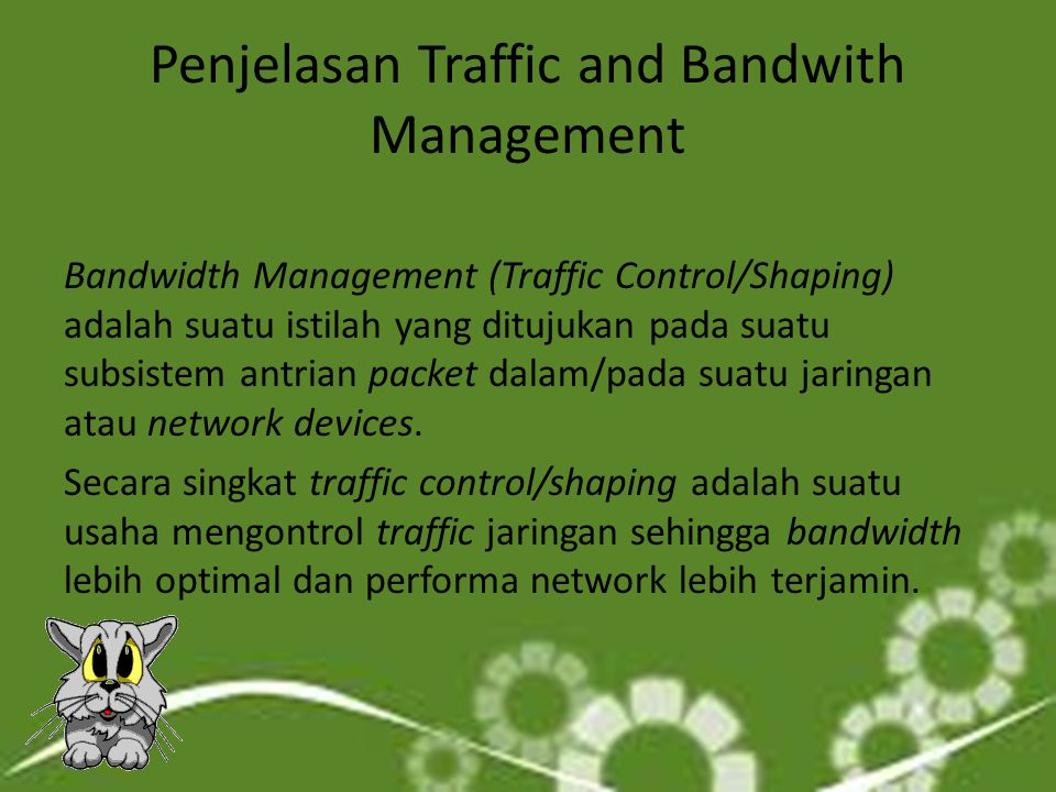 Penjelasan Traffic and Bandwith Management
