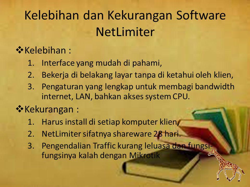 Kelebihan dan Kekurangan Software NetLimiter