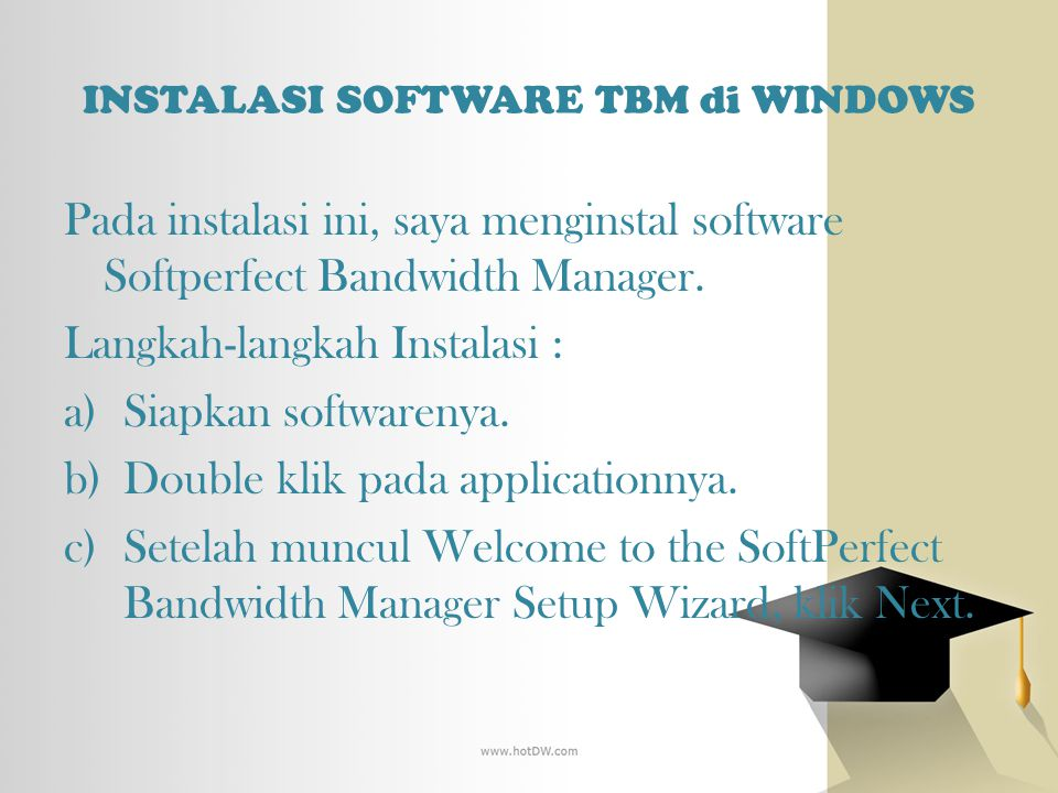 INSTALASI SOFTWARE TBM di WINDOWS