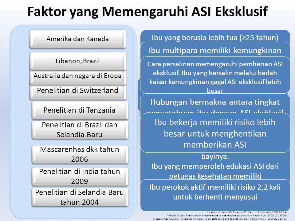 Faktor yang Memengaruhi ASI Eksklusif