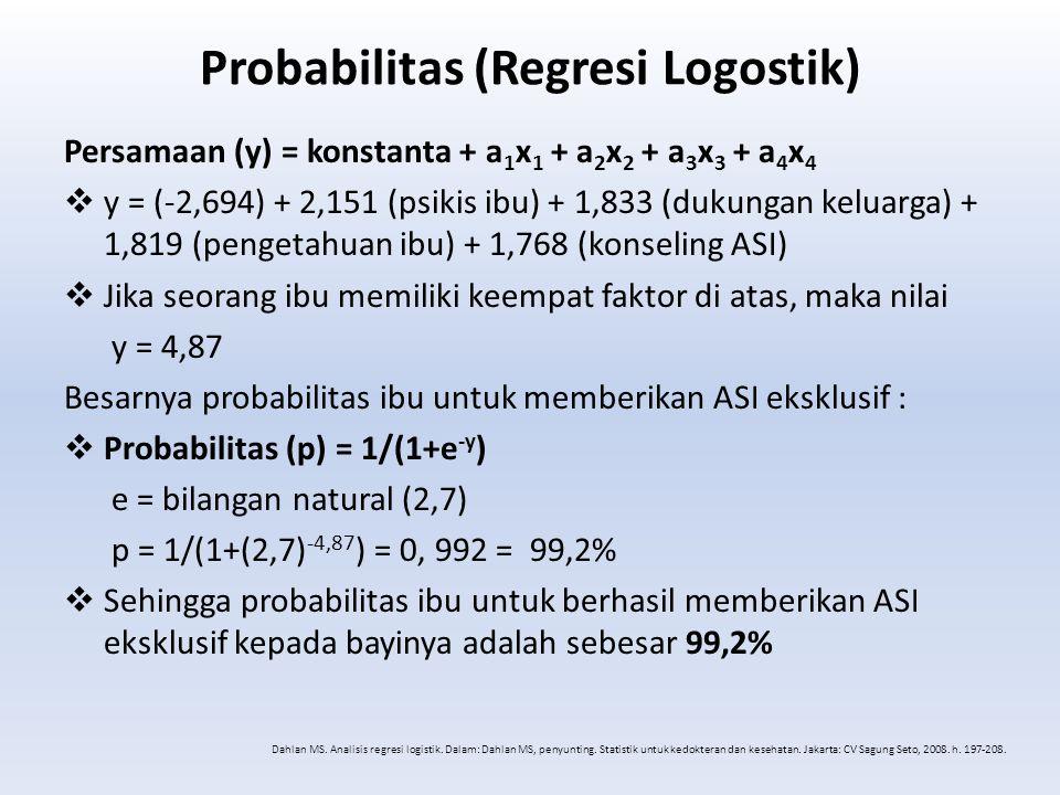 Probabilitas (Regresi Logostik)
