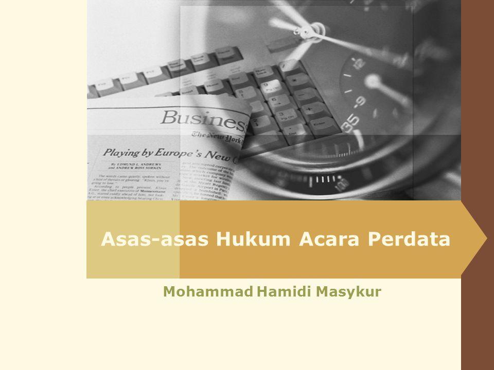 Asas-asas Hukum Acara Perdata