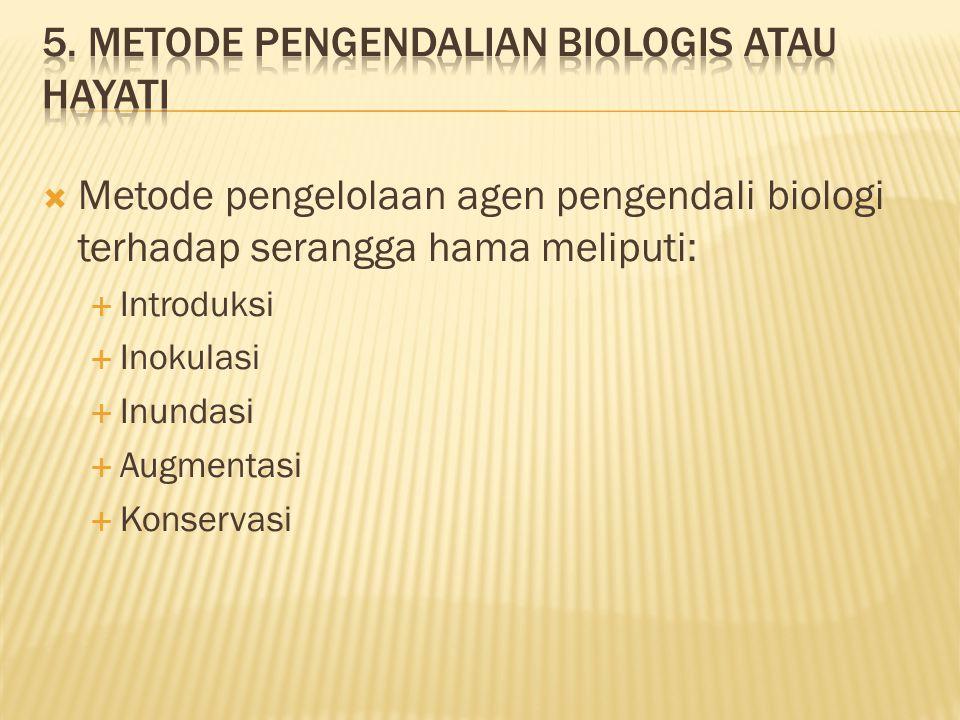 5. Metode pengendalian biologis atau hayati