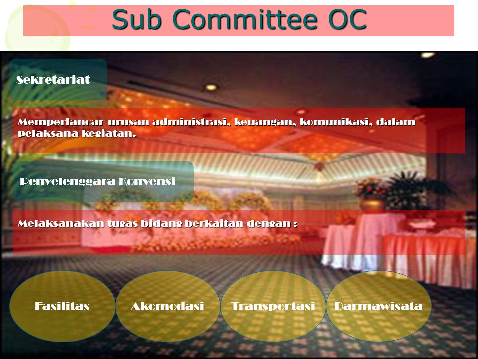 Sub Committee OC Sekretariat Penyelenggara Konvensi Fasilitas