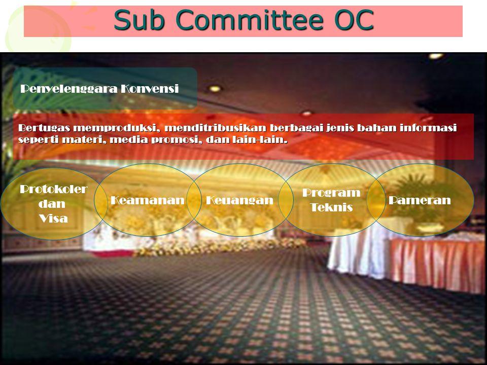 Sub Committee OC Penyelenggara Konvensi Keamanan Keuangan Program