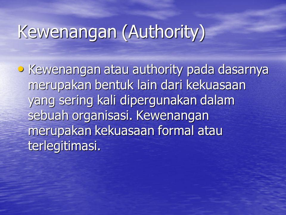 Kewenangan (Authority)