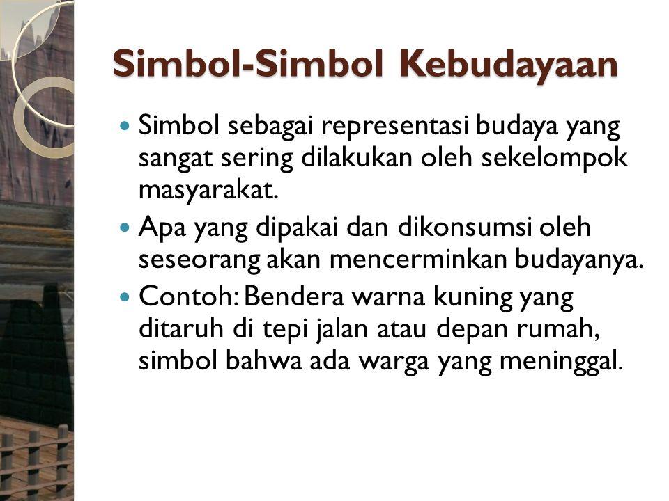Simbol-Simbol Kebudayaan