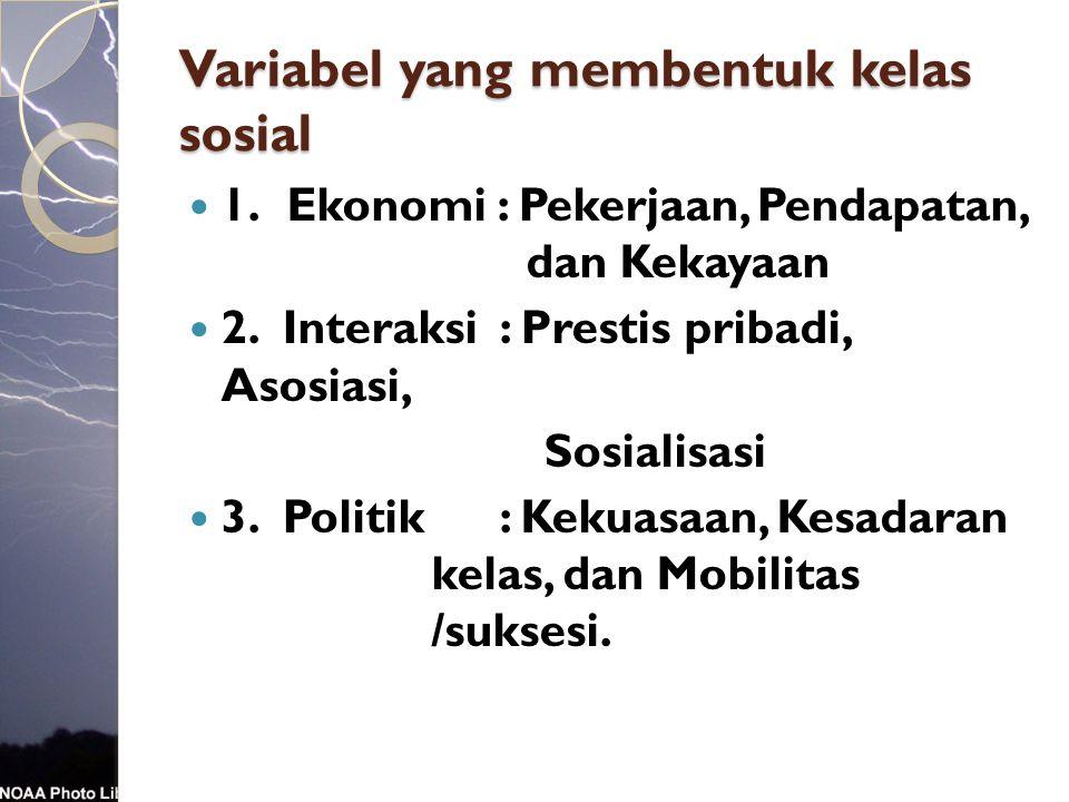 Variabel yang membentuk kelas sosial