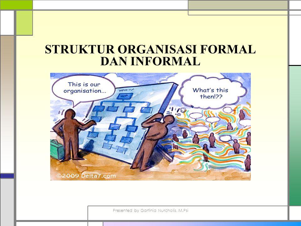 STRUKTUR ORGANISASI FORMAL DAN INFORMAL