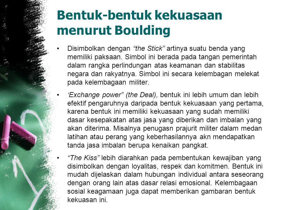 Bentuk-bentuk kekuasaan menurut Boulding