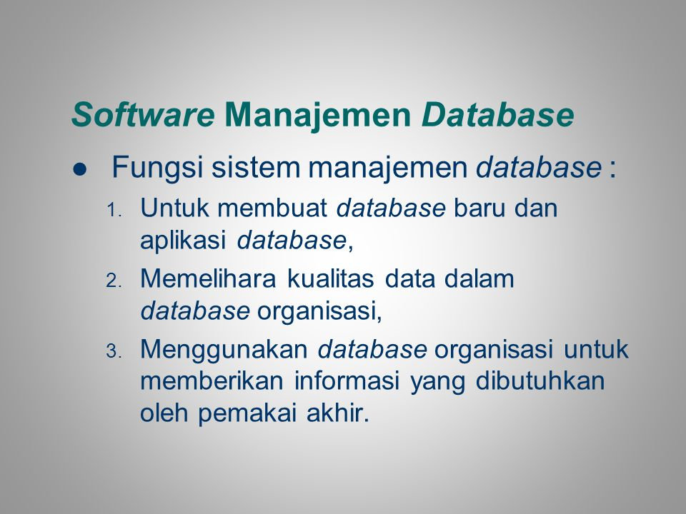 Software Manajemen Database