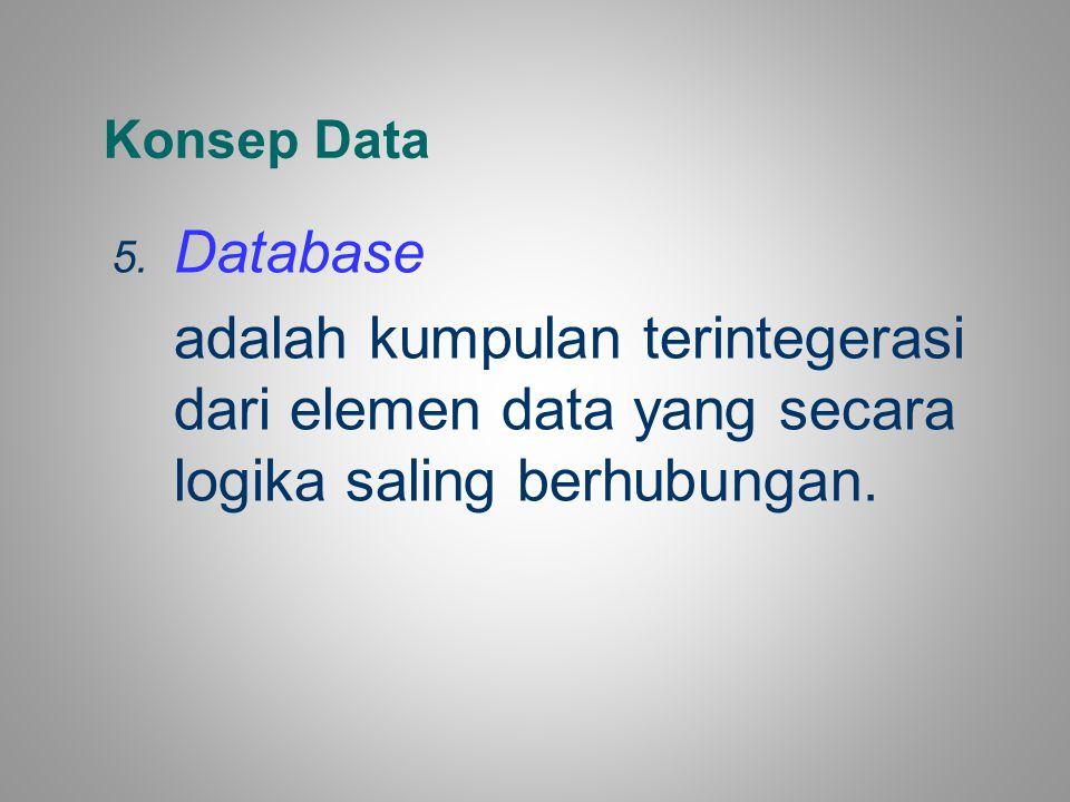 Konsep Data Database.
