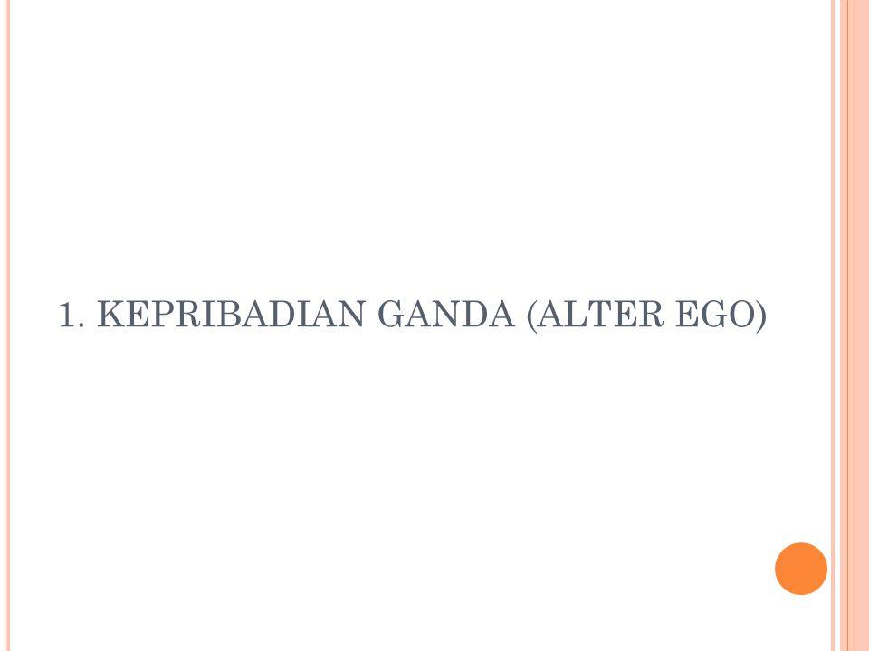 1. KEPRIBADIAN GANDA (ALTER EGO)