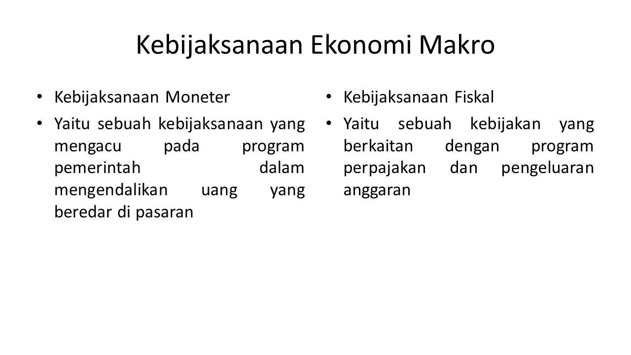 Kebijaksanaan Ekonomi Makro