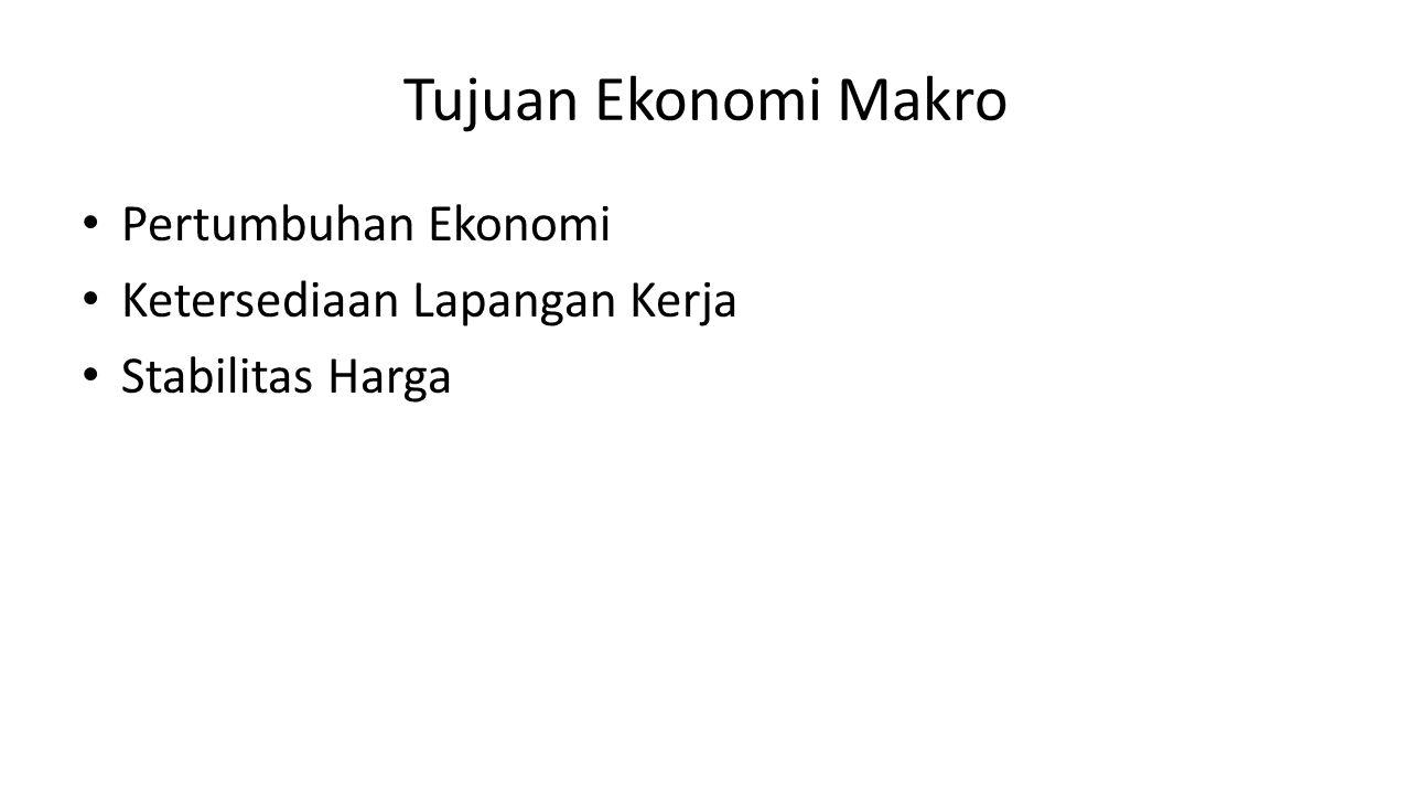 Tujuan Ekonomi Makro Pertumbuhan Ekonomi Ketersediaan Lapangan Kerja