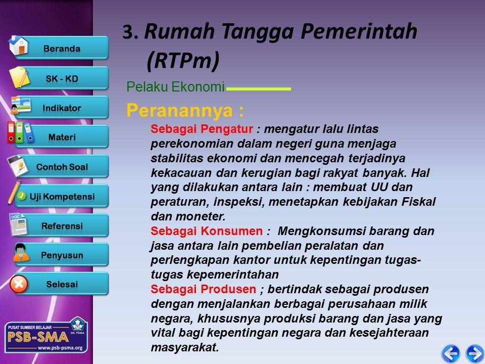 3. Rumah Tangga Pemerintah (RTPm)