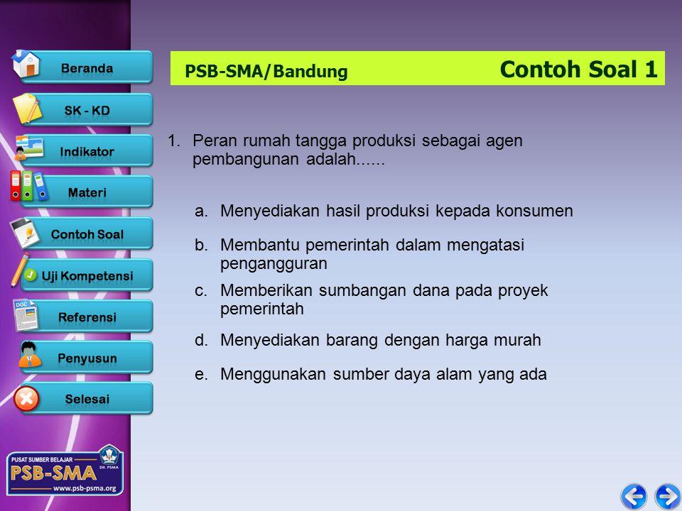 PSB-SMA/Bandung Contoh Soal 1