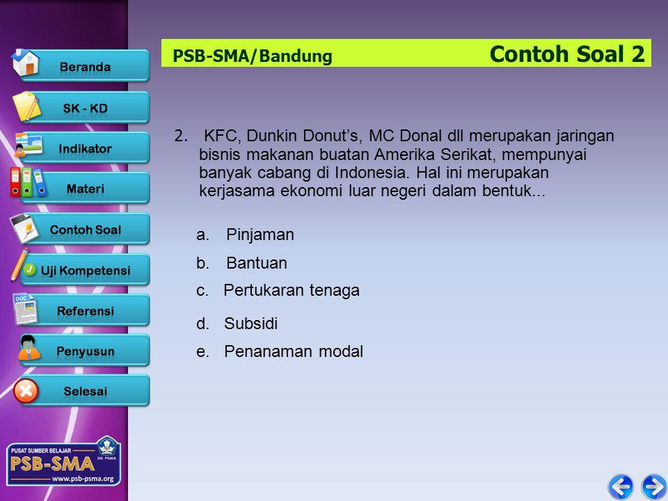 PSB-SMA/Bandung Contoh Soal 2
