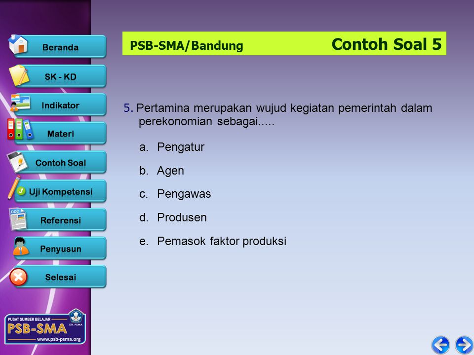 PSB-SMA/Bandung Contoh Soal 5