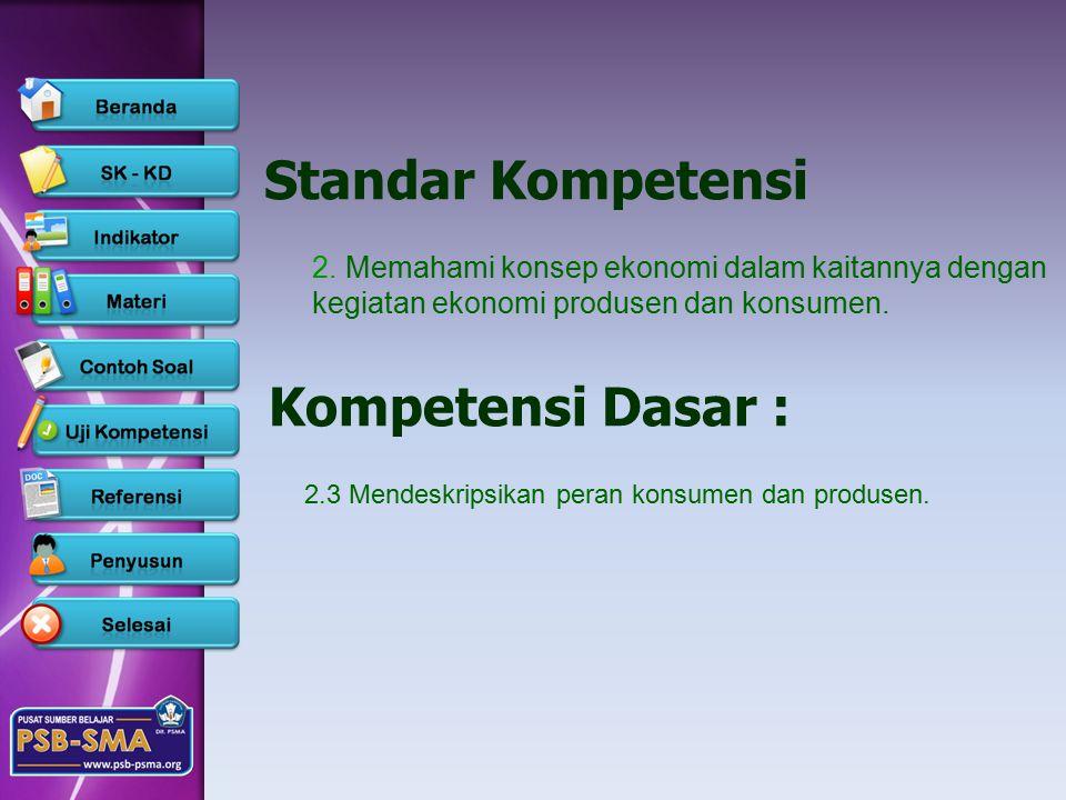Standar Kompetensi Kompetensi Dasar :