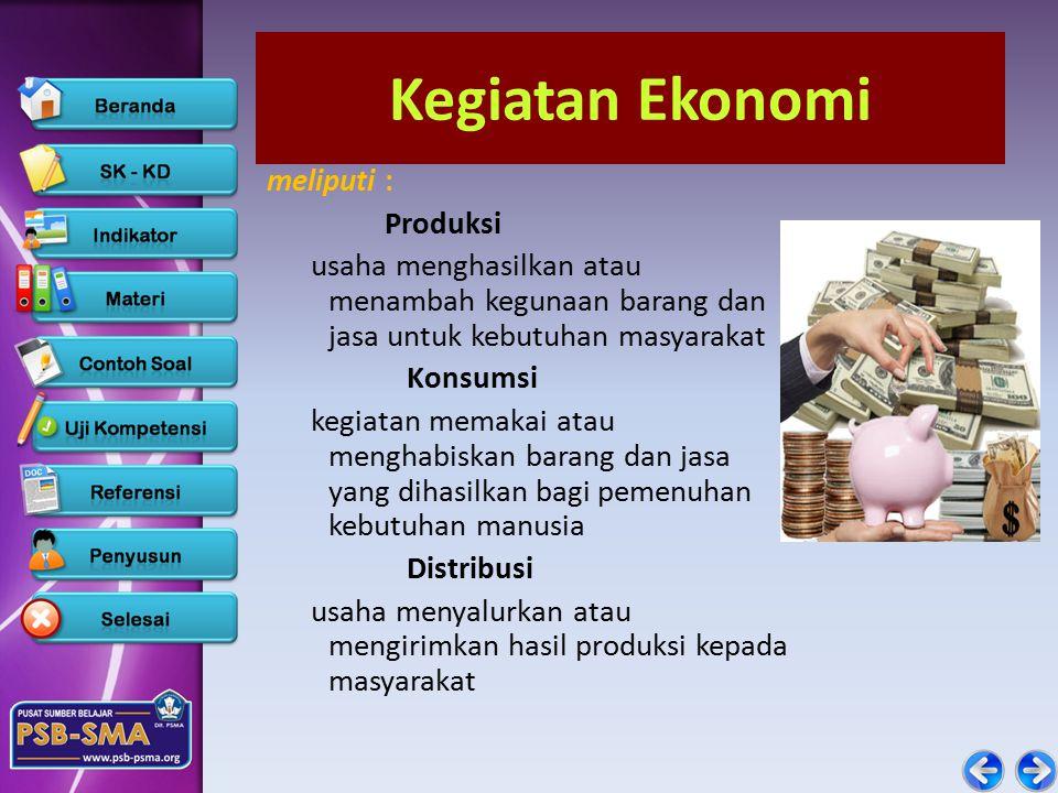 Kegiatan Ekonomi meliputi : Produksi