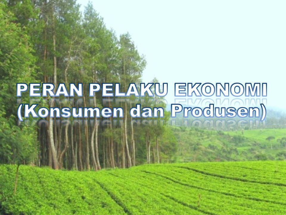 PERAN PELAKU EKONOMI (Konsumen dan Produsen)