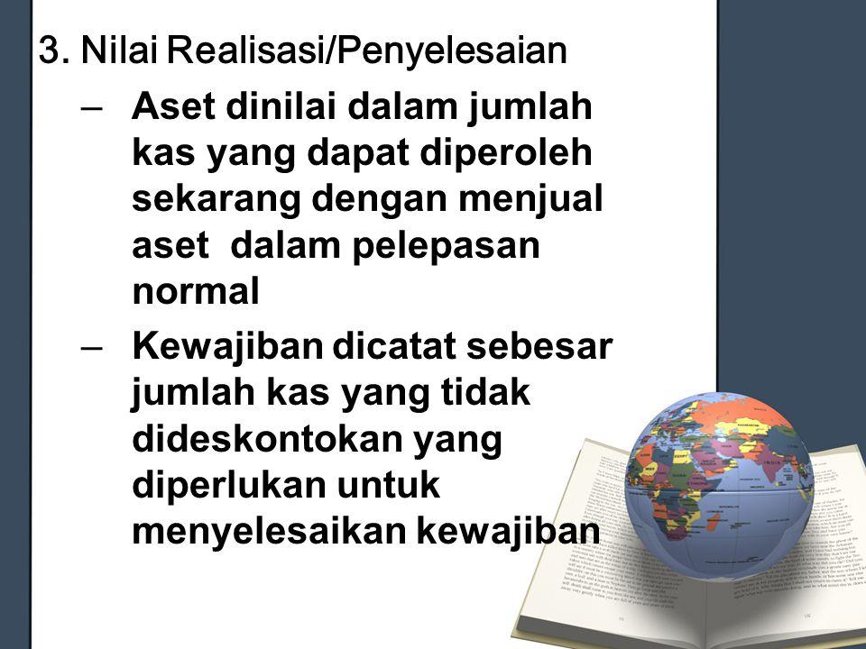 3. Nilai Realisasi/Penyelesaian