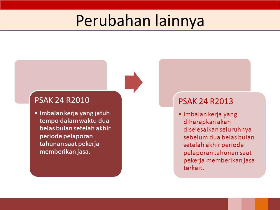 Perubahan lainnya PSAK 24 R2010