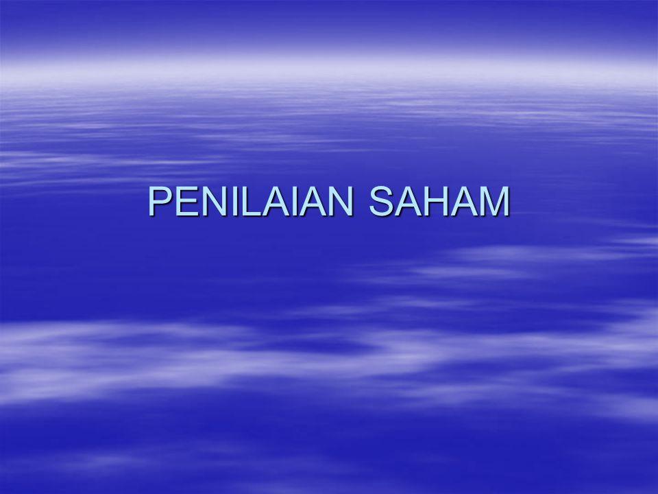 PENILAIAN SAHAM