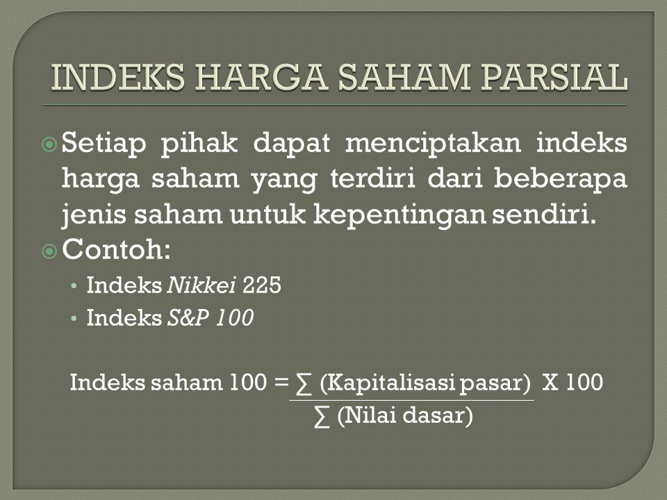 INDEKS HARGA SAHAM PARSIAL