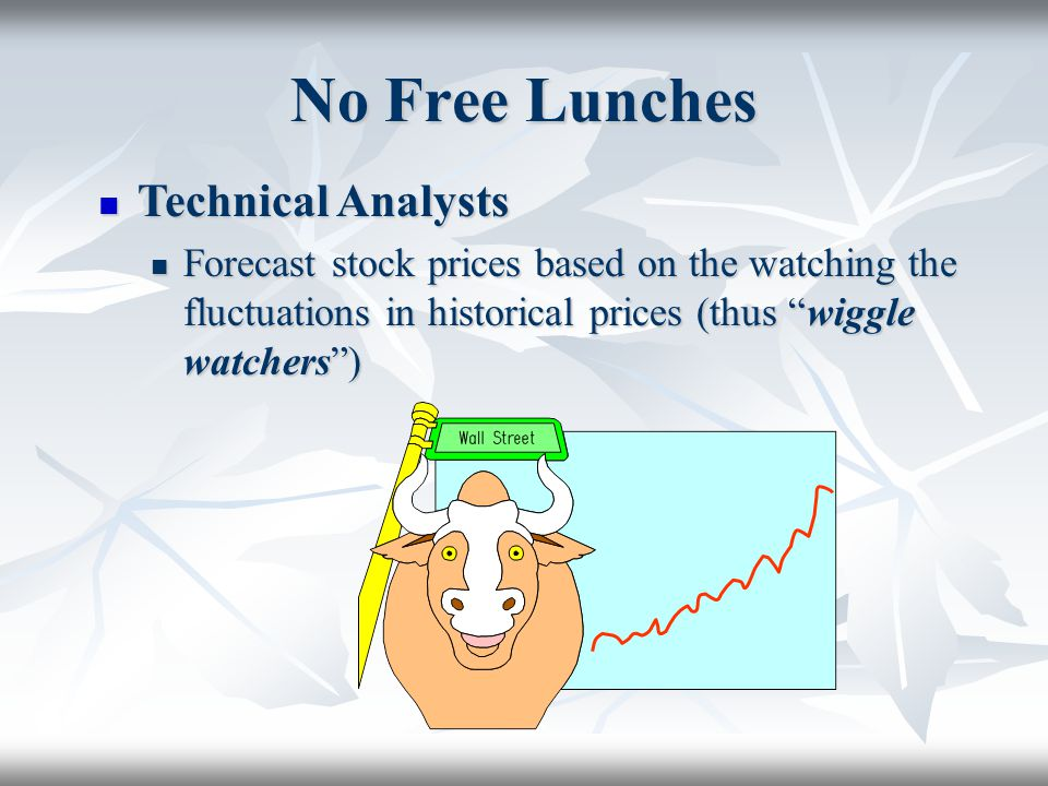No Free Lunches Technical Analysts