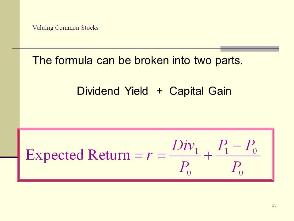 Dividend Yield + Capital Gain