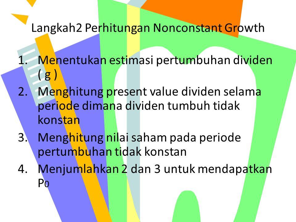 Langkah2 Perhitungan Nonconstant Growth