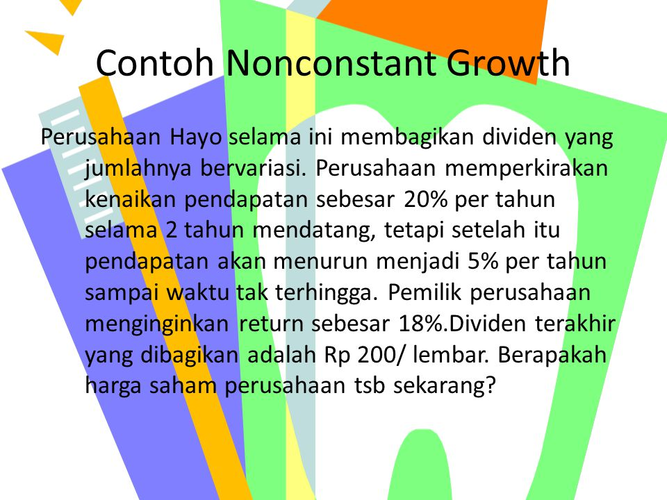 Contoh Nonconstant Growth